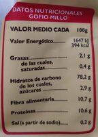 Gofio De Trigo - Nutrition facts - es