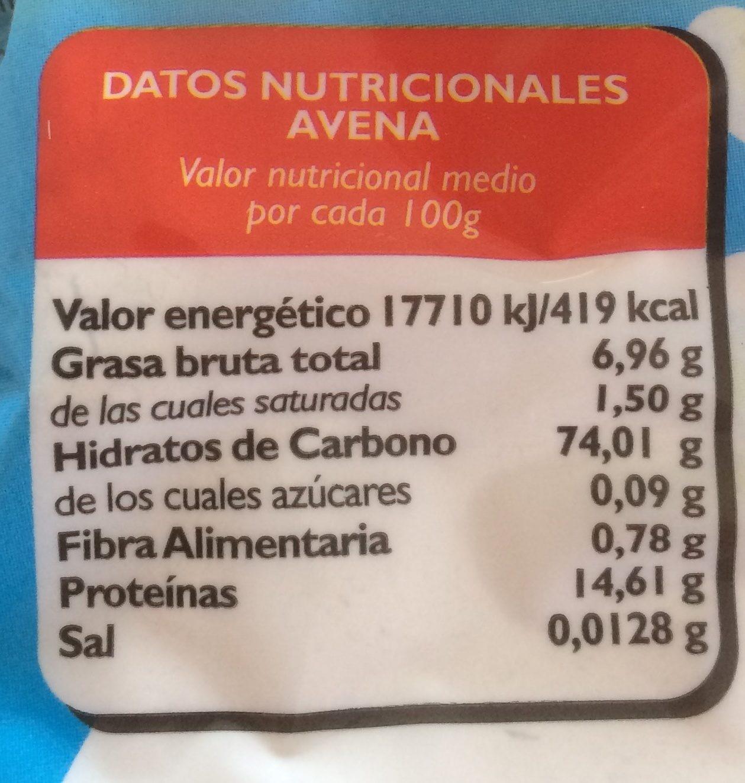 Avena instantanea - Nutrition facts - fr