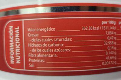 Whey protein + gofio - Nutrition facts - es