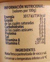 MANTEQUILLA CON SAL IRLANDESA - Informació nutricional