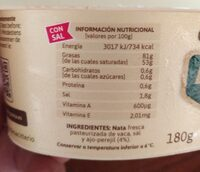 Mantequilla de Irlanda - Nutrition facts