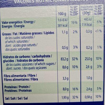 Con flakes - Nutrition facts - es