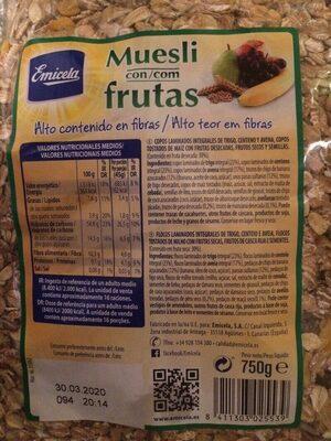 Muesli con frutas
