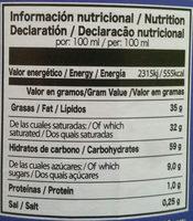 Caroma - Información nutricional - es