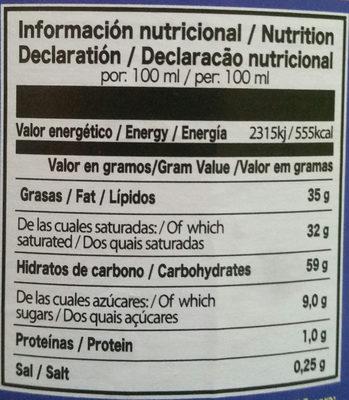 Caroma - Información nutricional