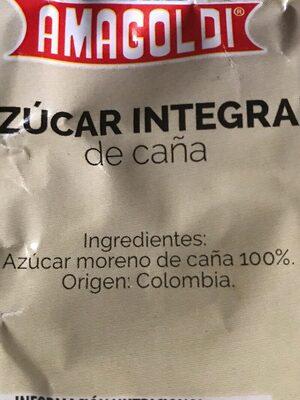 Azucar integral de caña - Ingrediënten - es