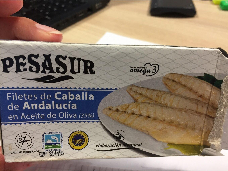PESASUR Filetes de Caballa de Andalucia en aceite de oliva - Product