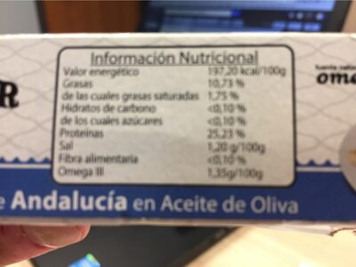 PESASUR Filetes de Caballa de Andalucia en aceite de oliva - Nutrition facts