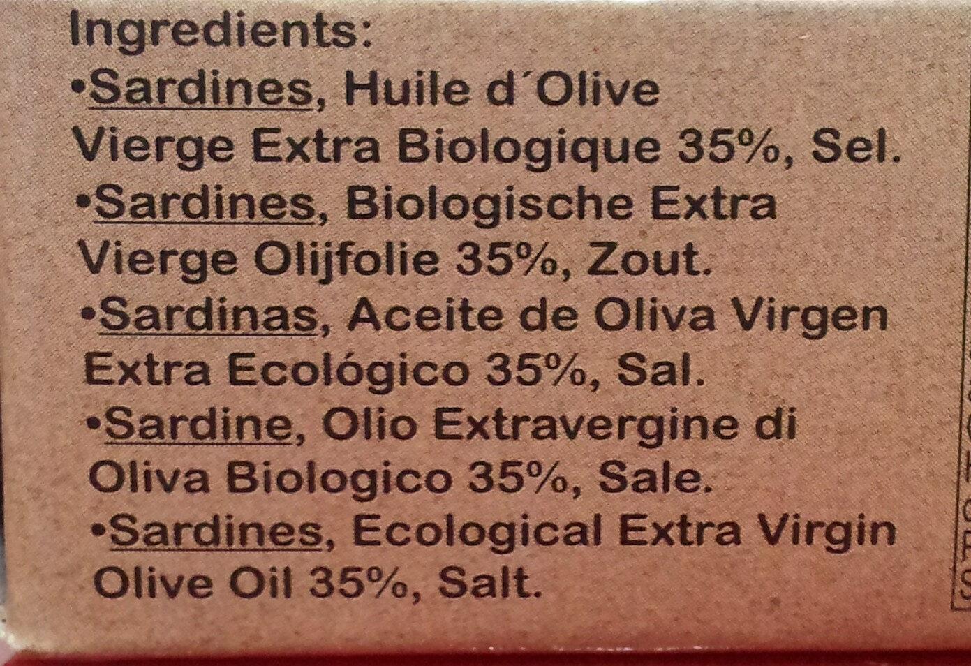 Epicerie / Poisson, Viande, Pâtés / Produits De La Mer - Ingredientes - es