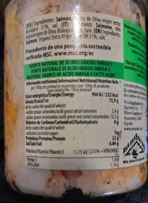 Alaska Eild Salmon - Información nutricional