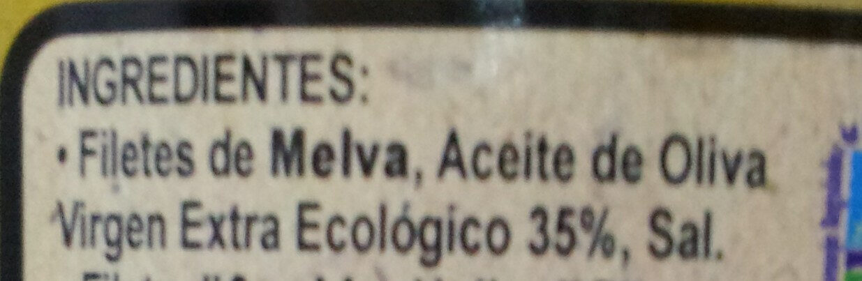 PESASUR Filetes de Melva de Andalucía canutera - Ingredientes - es