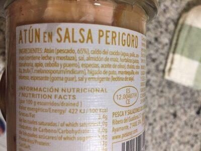 Atún en Salsa Perugord - Ingrediënten