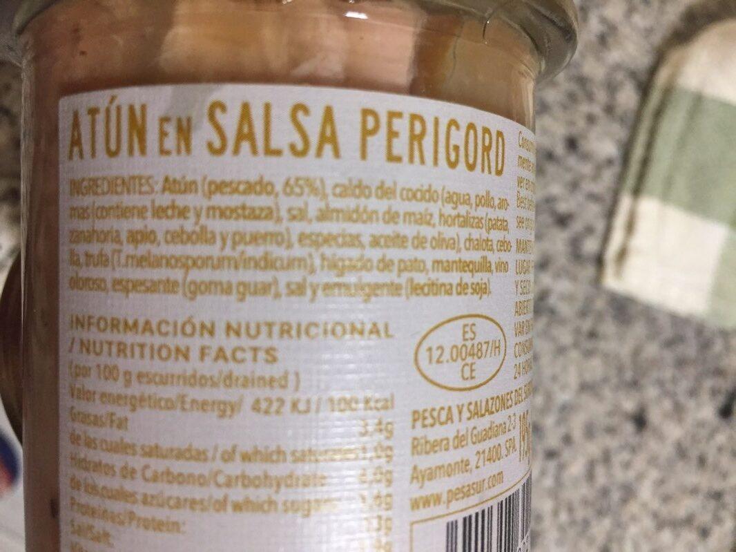 Atún en Salsa Perugord - Ingrediënten - es