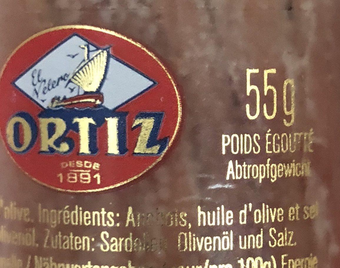 Anchovies In Oil (jar) - Ingrédients - fr