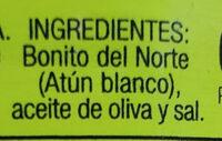 Bonito del norte en aceite de oliva - Ingredients - es