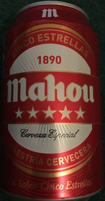 Cerveza Mahou 5 estrellas - Product - es