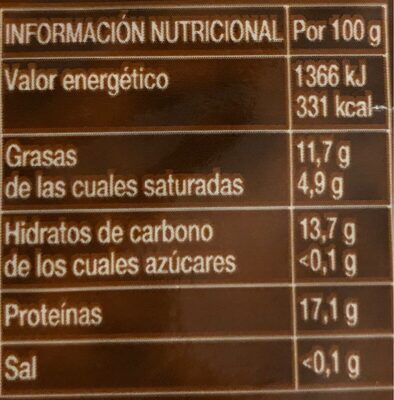 Café Molido Mezcla - Nutrition facts