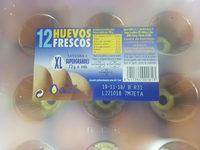 12 Huevos Frescos XL - Producto