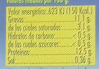 12 Huevos Frescos XL - Información nutricional