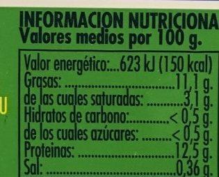Huevos Frescos de Gallinas Camperas - Información nutricional