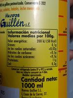 Blancs d'oeuf pasteurisés - Informació nutricional
