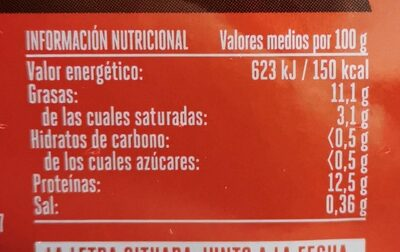 Huevos - Informations nutritionnelles - es