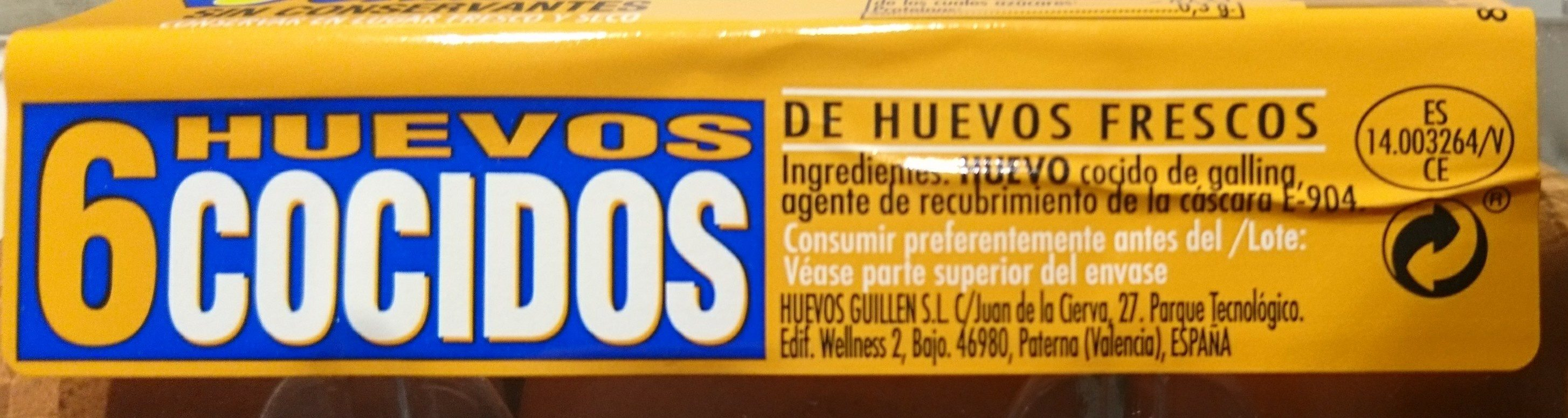 Huevos cocidos - Ingrédients - es