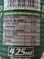 Berenjena Aliñada - Nutrition facts - es