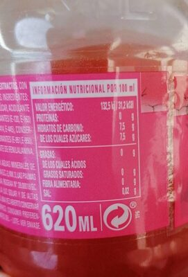 Firgas - Información nutricional