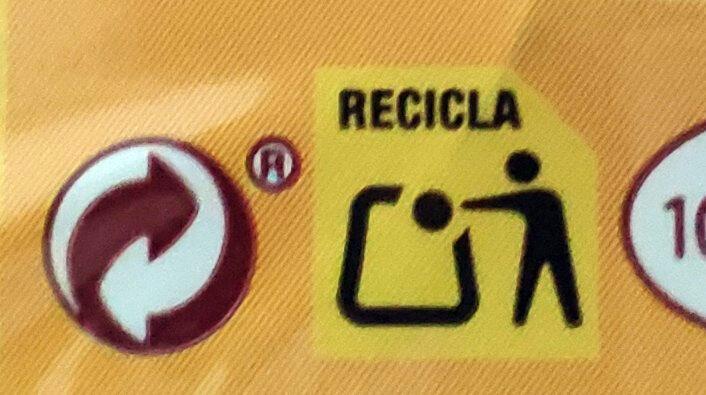 Flautas de pollo y queso - Instruction de recyclage et/ou informations d'emballage - es