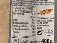 SAN JACOBOS - Nutrition facts - es
