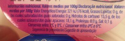 Gelatina Clesa sabor fresa - Valori nutrizionali - es