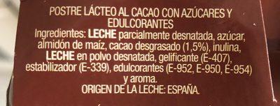 Crema de bombón - Ingredients