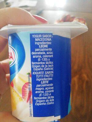 Yogur macedonia - Ingrediënten - es