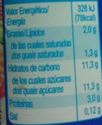 Yogur macedonia - Voedingswaarden - es