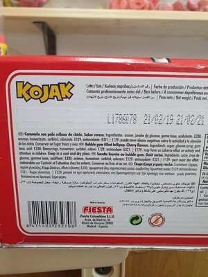 Kojak cereza - Ingredients