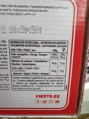 Kojak cereza - Nutrition facts