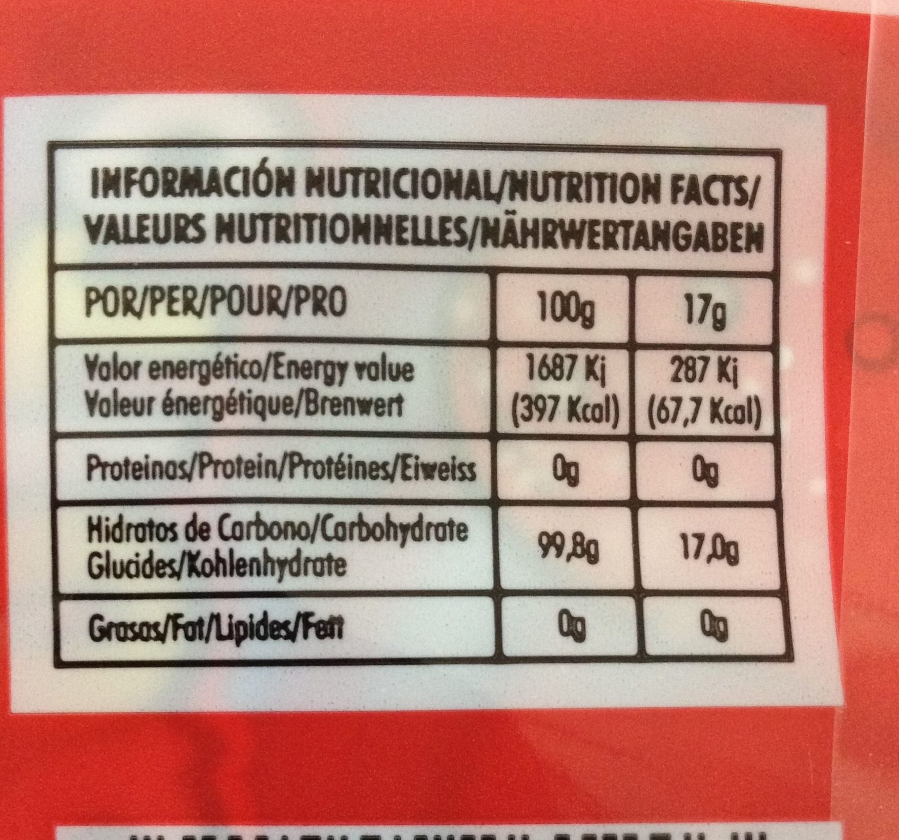 Fresquito - Nutrition facts - fr
