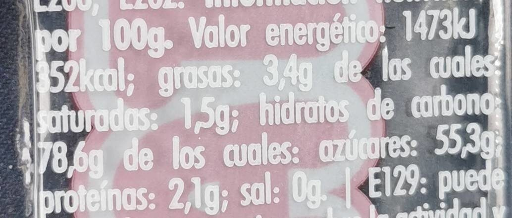 Maromas cereza - Nutrition facts