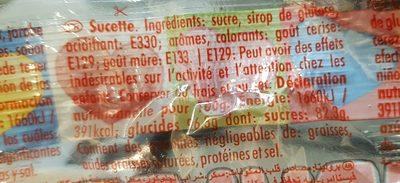 Sucette fiesta - Ingredients