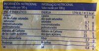 Galleta tostada florbú - Voedingswaarden