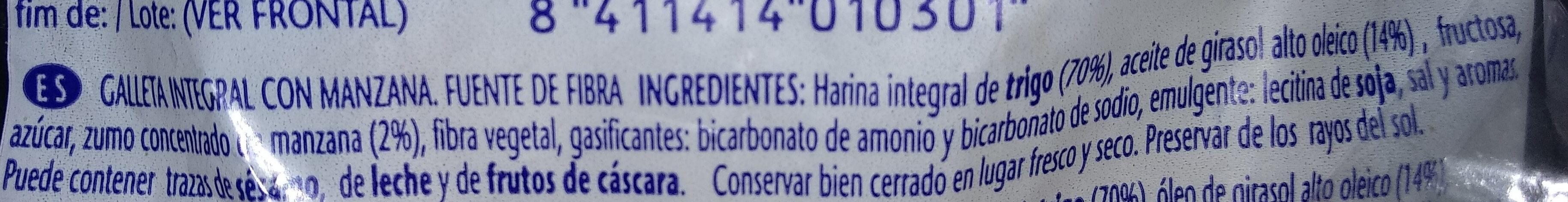 Galletas con manzana - Ingredientes - es