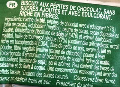 Choco Cookies Sugar Free - Ingredients - fr