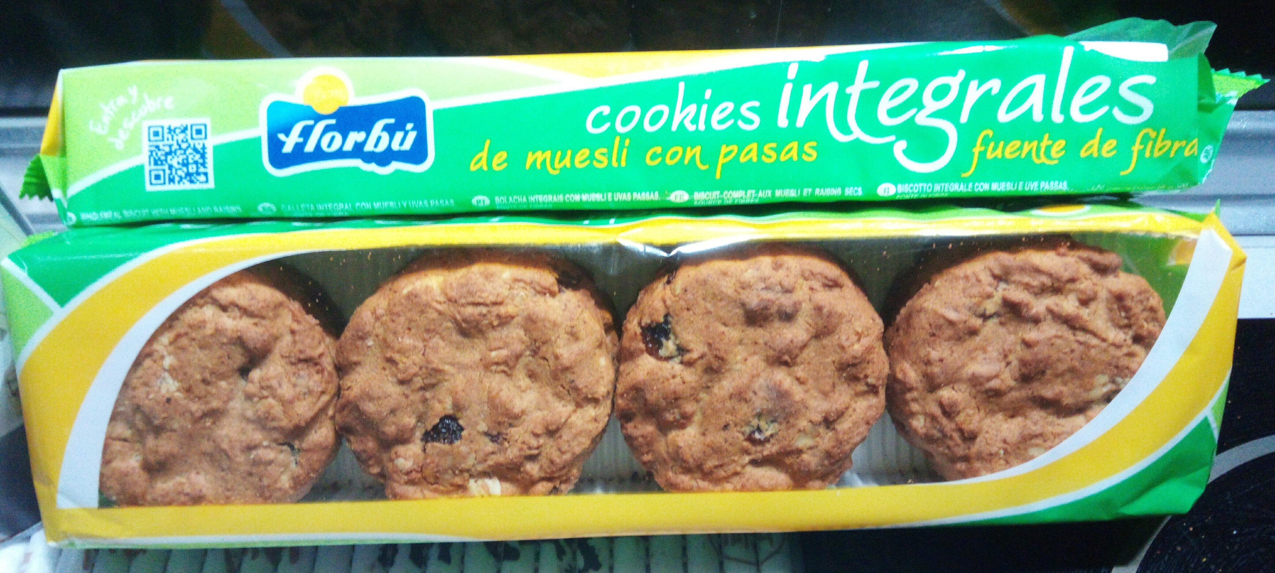 Cookies integrales de muesli con pasas - Product - es