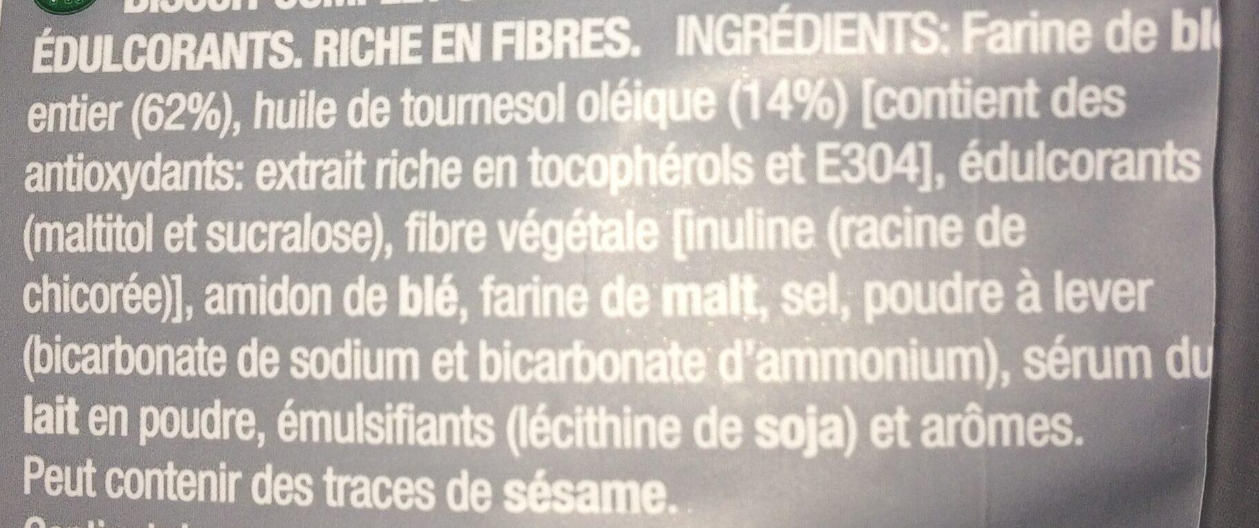 Desayuno integral - Ingrédients - fr