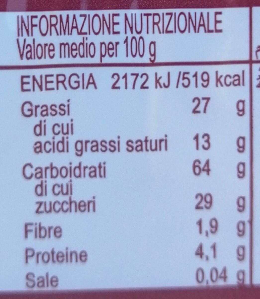 Wafers sabor Coco - Nutrition facts - en