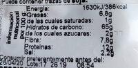 Camperos de centeno y quinoa - Información nutricional - es