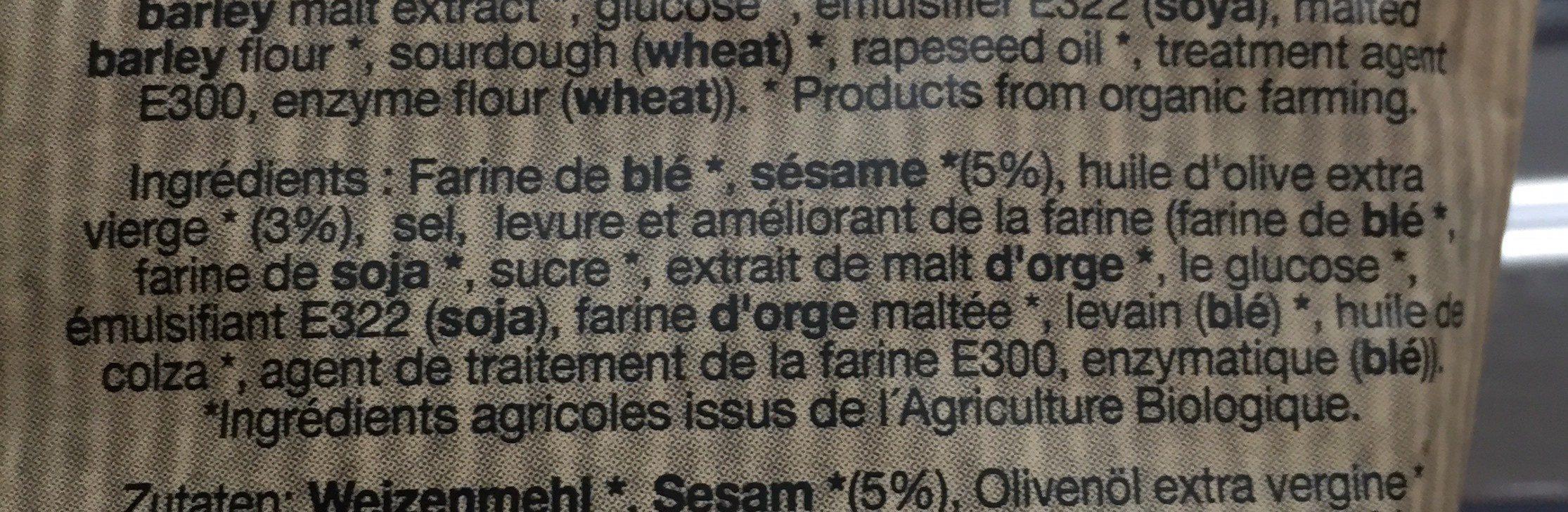 Biomonti - Ingrediënten - fr