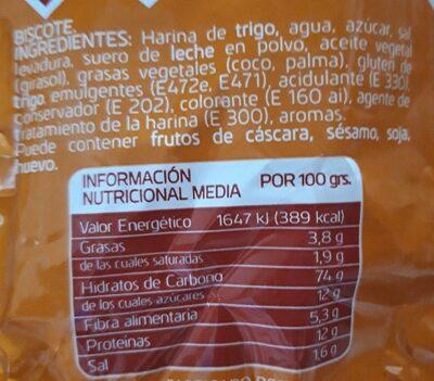 Mini tostadas - Informazioni nutrizionali - es