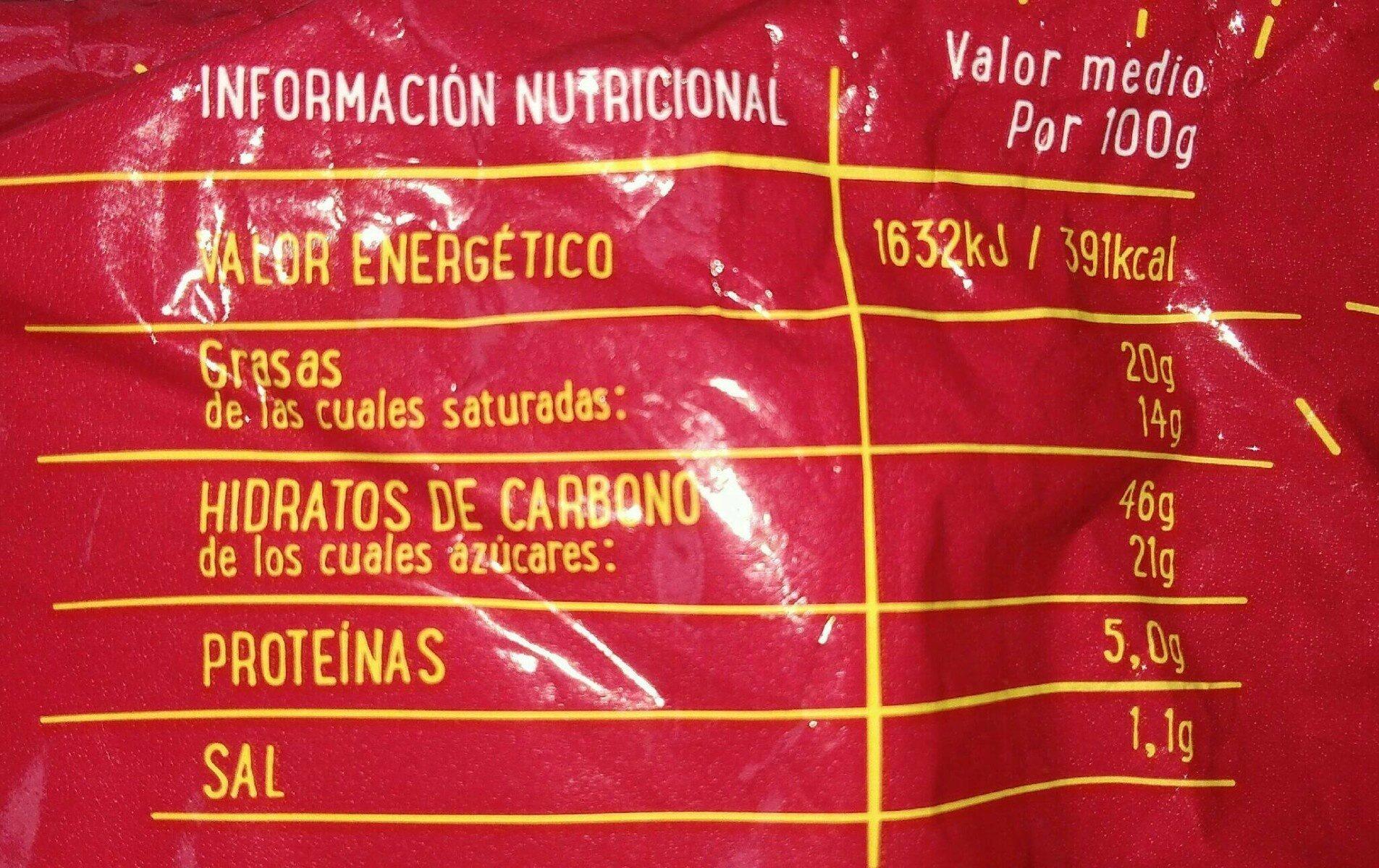 Herradura - Nutrition facts
